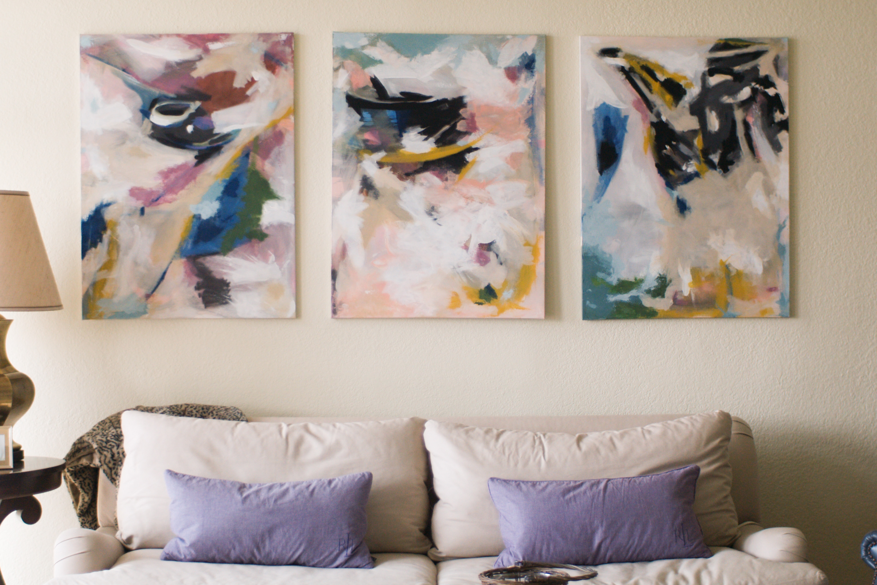 Buttons Magee Weblog: Abstract painting DIY